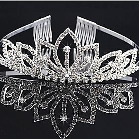 Headpieces Clear Crystals Wedding Bridal Tiara