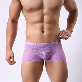 Boxing tight boxers  Bud silk boxers   Transparent briefs