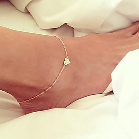 Women's Anklet/Bracelet Gold Plated Unique Design Fashion Heart Jewelry Women's Jewelry For Party Daily 1pc