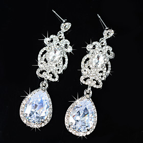 Women's Cubic Zirconia Silver Alloy Drops Jewelry