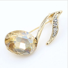 Lucky Doll  Diamonade Crystal Zirconia Note Brooch