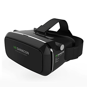 2016 VR BOX Shinecon Virtual Reality 3D Glasses Cardboard 2.0 VR Headset (Black Color) 4579057