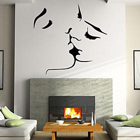 Beautiful PVC Personalized Romantic Kiss Wall Stickers