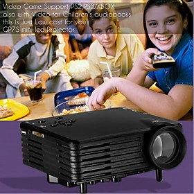ViviBright Micro Projector EMP Series GP7S,With HDMI/USB/SD/Video All in One for Video Game