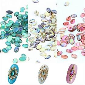5PCS Shell Lines Rhinestone Nail Art Decorations