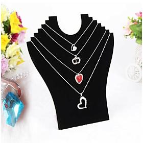 Black Velvet Necklace Pendant Display 23247cm