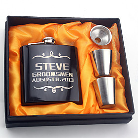 Personalized Stainless Steel Barware  Flasks Hip Flasks Bride Groom Bridesmaid Groomsman Wedding Congratulations