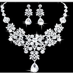 Women's Jewelry Set Earrings Bib necklaces Cute Party Fashion Double-layer S..