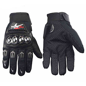 PRO-BIKER Professional Skid-Proof Full Finger Stainless Steel Motorcycle Racing Gloves 4567194
