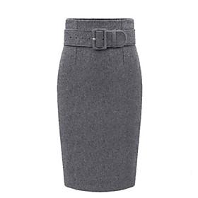 Women's Work Fashion Thicken One Step Slim Skirt Plus Size