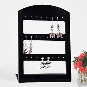 Black Acrylic Earrings Jewelry Displays 24 Holds
