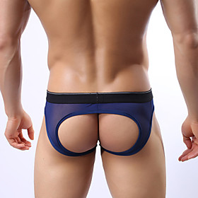Men's Sexy Hollow Out Briefs G-string Thong Men's T-back Underwear