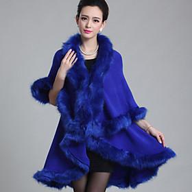 Women's Going out Vintage Cloak/Capes Winter Faux Fur Medium