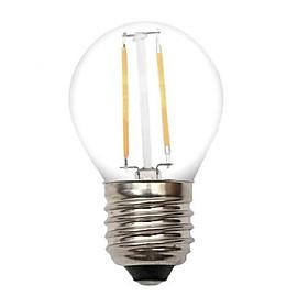 2W E26/E27 LED Filament Bulbs G45 2 COB 220 lm Warm White Decorative AC 220-240 V