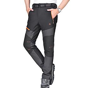 Men's Hiking Pants Outdoor Waterproof, Rain-Proof, Thermal / Warm Winter Fleece Pants / Trousers Camping / Hiking / Hunting / Climbing 4391701