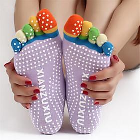 Skid Yoga Socks Toe Cotton