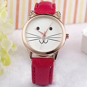Image of Cat Face Watch, Fashion Watch, Kitty Watch, Cat Lovers Watch, Love Cats, Cat Jewelry, Kitty Jewelry, Cat Lovers Gift Cool Watches Unique Watches