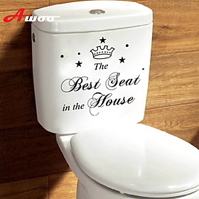 New Cartoon Pattern Best Seat Waterproof Wall Sticker For Toilet Bathroom Home Decor Vinyl Wall Decal