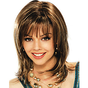 Synthetic Wig Straight Brown Women's Capless Medium Synthetic Hair 4649344