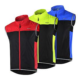 Arsuxeo Cycling Vest Women's Men's Unisex Bike Vest/Gilet Windbreakers JacketBreathable Quick Dry Windproof Reflective Strips Lightweight 4684428