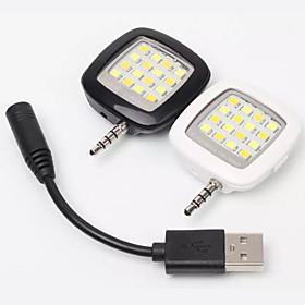 Smartphone-LED-Blitz RK05 einstellbare Anti-Rote-Augen \/ sync flash \/ Fulllicht von Hand Steuerung fur iOS und Android