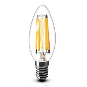 6W E12 LED Candle Lights C35 6 COB 600 lm Warm White Dimmable AC 110-130 V 1 pcs
