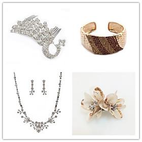Wedding Suit(Headdress  Necklace  Earrings  Bracelet  Brooch)