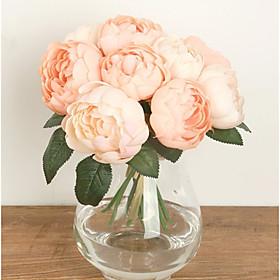 1 Branch Silk Roses Tabletop Flower Artificial Flowers