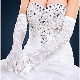 Opera Length Fingertips Glove Satin Bridal Gloves