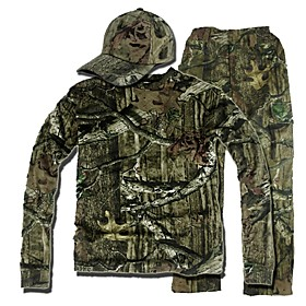 Image of Camouflage Hunting Suit , Camo Hunting Long Sleeve Shirt ,Trousers (Jacket Trousers peaked cap)