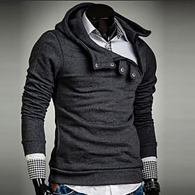 Men's Long Sleeve Hoodie  Sweatshirt , Cotton Pure 4731935