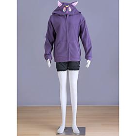 Image of Inspired by Sailor Moon Sailor Moon Anime Cosplay Costumes Cosplay Hoodies Print Purple Long Sleeve Coat