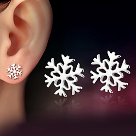 Women's Stud Earrings - Sterling Silver, Silver Classic Silver For Wedding Party Daily