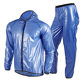 Nuckily Women's / Unisex Cycling Jacket with Pants Bike Jacket / Windbreaker / Raincoat Waterproof, Quick Dry, Windproof Solid Colored, 4732162