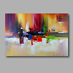 Oil Painting Hand Painted Abstract Modern Stretched Canvas / Rolled Canvas