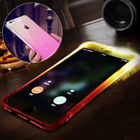 $Για Θήκη iPhone 6 / Θήκη iPhone 6 Plus Αδιάβροχη / Φως LED που αναβοσβήνει tok Πίσω Κάλυμμα tok Διαβάθμιση χρώματος Μαλακή TPUiPhone 6s