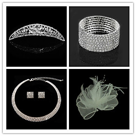 Wedding Suit(Headdress  Necklace  Earrings  Bracelet  Brooch)