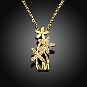Xu™ Women's Flower Diamonds 18k Gold-plated Necklace