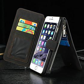 $πολυτέλεια πολλαπλών λειτουργιών διάσπαση φερμουάρ πορτοφόλι κάρτα κινητό τηλέφωνο περίπτωση για το iphone 6s 6 συν