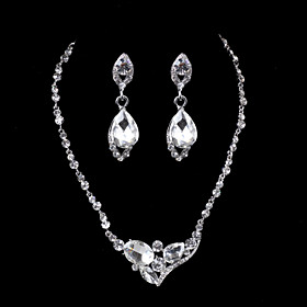 Elegant Design Alloy With Rhinestone Wedding/Special Occaision / Party Jewel..