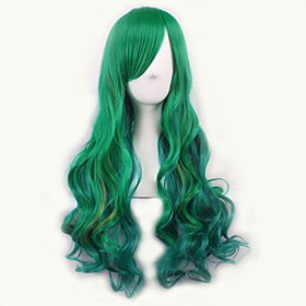 Europe and The United States the New Gradient Cosplay Anime Wig COS The Original Green Color Female Long Hair Wig 4732263
