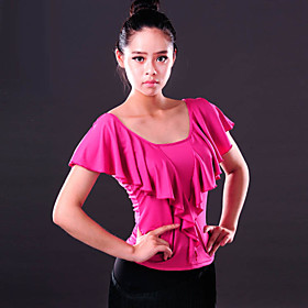 Ballroom Dance Tops Women's Performance Spandex Draped 1 Piece Top M:49 L:51 XL:53 4780562