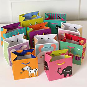 2 Piece/Set Favor Holder-Cubic Card Paper Favor Bags Non-personalised