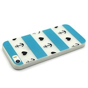 $Για Θήκη iPhone 5 Λάμπει στο σκοτάδι tok Πίσω Κάλυμμα tok Γραμμές / Κύματα Μαλακή TPU iPhone SE/5s/5