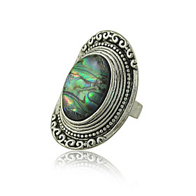 Bohemia Vintage Jewelry Rings for Women Zinc alloy with Shell Rings plus size,  plus size fashion plus size appare