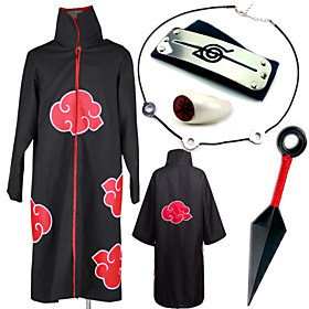 Inspired by Naruto Itachi Uchiha Anime Cosplay Costumes Cosplay Suits Cosplay Accessories PrintNecklace Cloak More Accessories Weapon 4778721