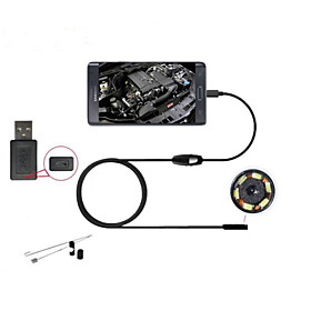 android Endoskop USB 5.5mm Android-Smartphone Endoskop 6 fuhrte ip66 wasserdichte Kamera USBendoscope 2m OTG CCTV-Kamera