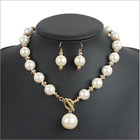 Women's Imitation Pearl / Alloy / Rhinestone Jewelry Set Imitation Pearl / R..