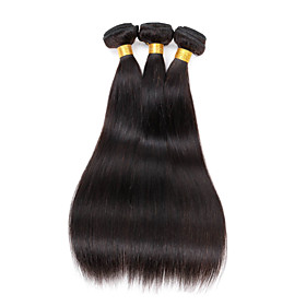 "3 bundle/150g 100% Unprocessed Peruvian Straight Soft Human Hair Extension 16""x3"
