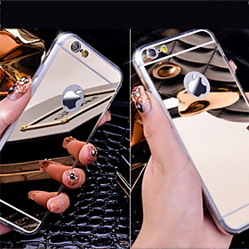 Case For Apple iPhone 5 Case iPhone 6 iPhone 6 Plus Plating Mirror Back Cover Solid Color Hard Acrylic for iPhone 6s Plus iPhone 6s